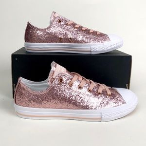 Converse Ctas Ox Blush Pink Sparkle Low Top